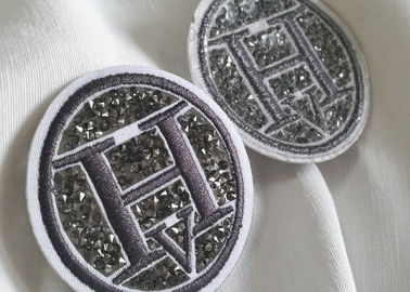 Creative 3D Rubber Logo Patches , Washable Fabric PVC Clothing Labels